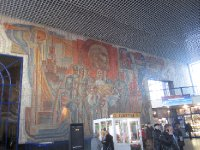 Mural at Nizhny train station