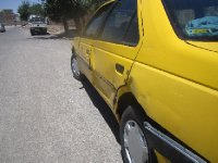 My taxi hit by truck