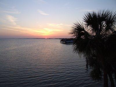 sunset on Tampa Bay