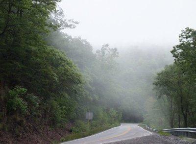 Fog in Blue Ridge Mountains