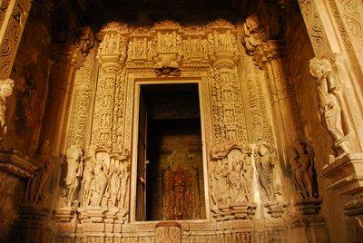 Doorway,Sanctum Sanctorum, Khujuraho Temples, India