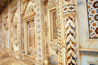 Marble doors and windows,Royal Temple, Gwalior, India