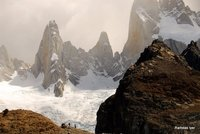 Traversing Glacier on Mt. Fitzroy- Ram Iyer
