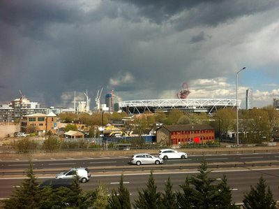 View from apartment  - Olympic stadium