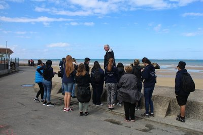 Doug Gives history lesson on D-Day landing at Arromanches