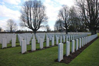 War cemetery, D-day battle of Normandy