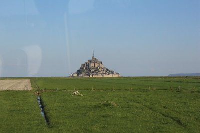 Mont St Michel in the distance
