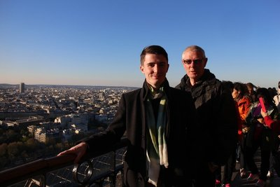 Tom and Doug high in Paris