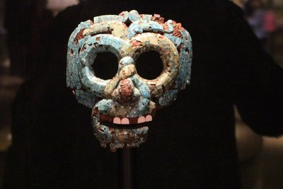 Jade mosaic mask from South America