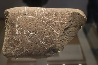 This rock drawing found in Jordan is from 6200 BC!