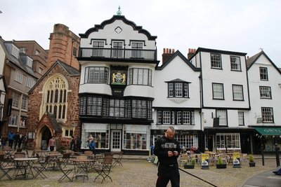 Saxon, Norman, Medieval buildings that survived the WW2 bombing of Exeter, including Mol's Tea House