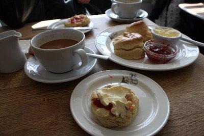 Cream tea in Devon