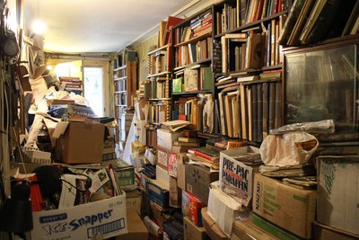 Inside the Manor House - watch out readaholics, this is what happens when book collecting gets out of control!