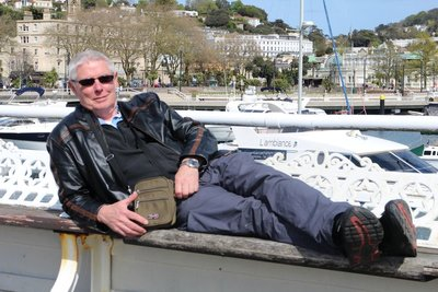 Doug relaxing on the pier