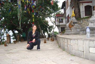 At the Swayambhunath Stupa