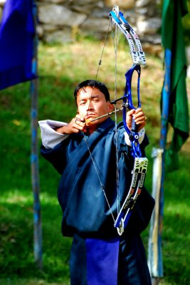 Archery competition, Paro