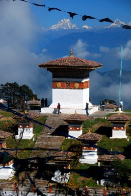 Dochu La Pass, on road from Thimphu to Punakha