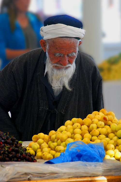 Man in market, Bukhara