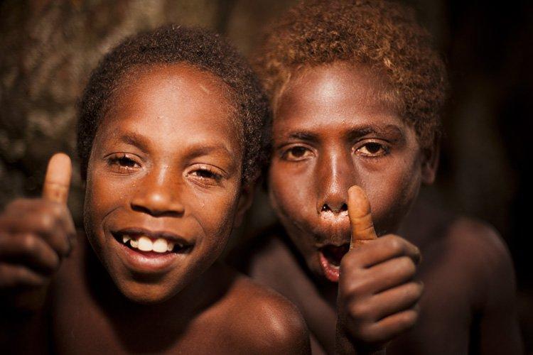 Local boys, Tanna Island