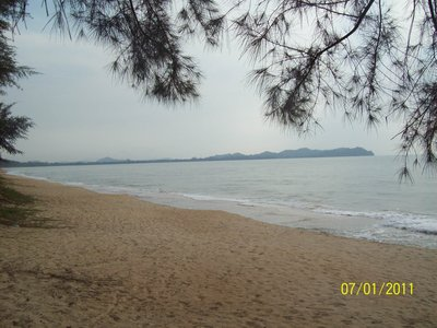 View from the Beach at Ruby's Resort, Cherating, Malaysia