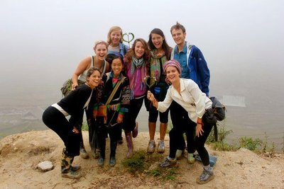 Our Vietnamese crew with Sue, our Sapa guide, along the hike!