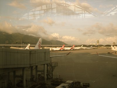My view from the Hong Kong Airport last July