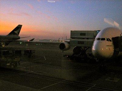 Landing in Hong Kong today