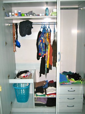 closet with all of my belongings