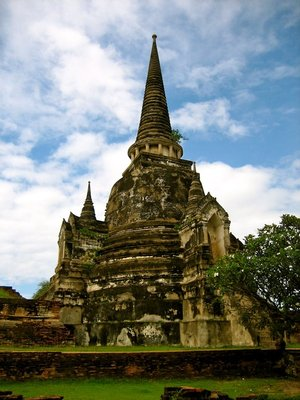 One of the three chedis of Wat Sri Sanphet