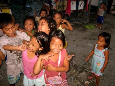 Beautiful girls from the slum we visited