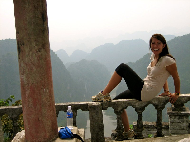 "After climbing up to what we dubbed ""The Great Wall of Vietnam."" What a viewpoint!"