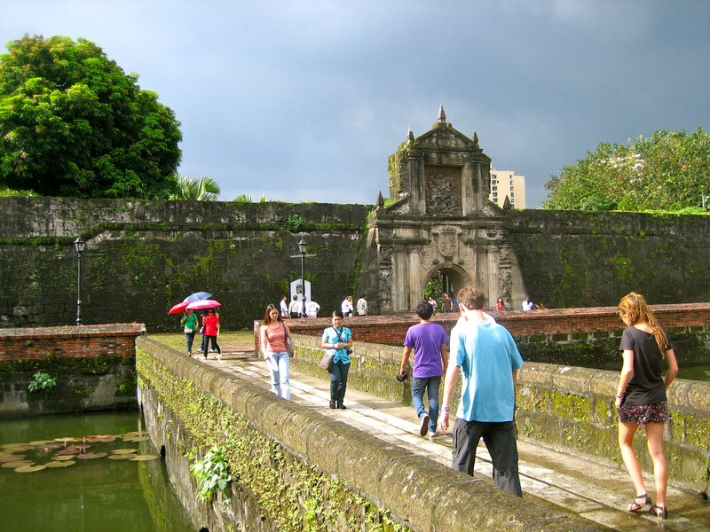 Walking through Intramuros, the old Spanish area