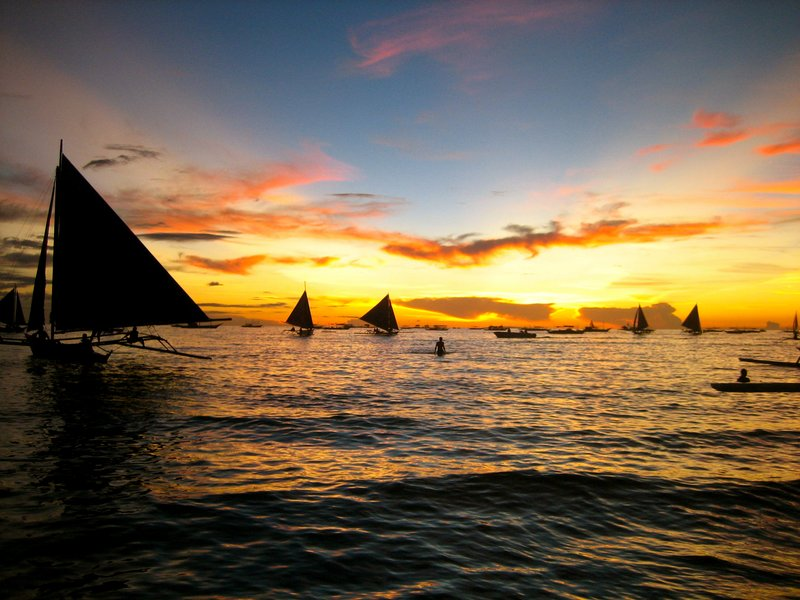 Sunset on Boracay Beach
