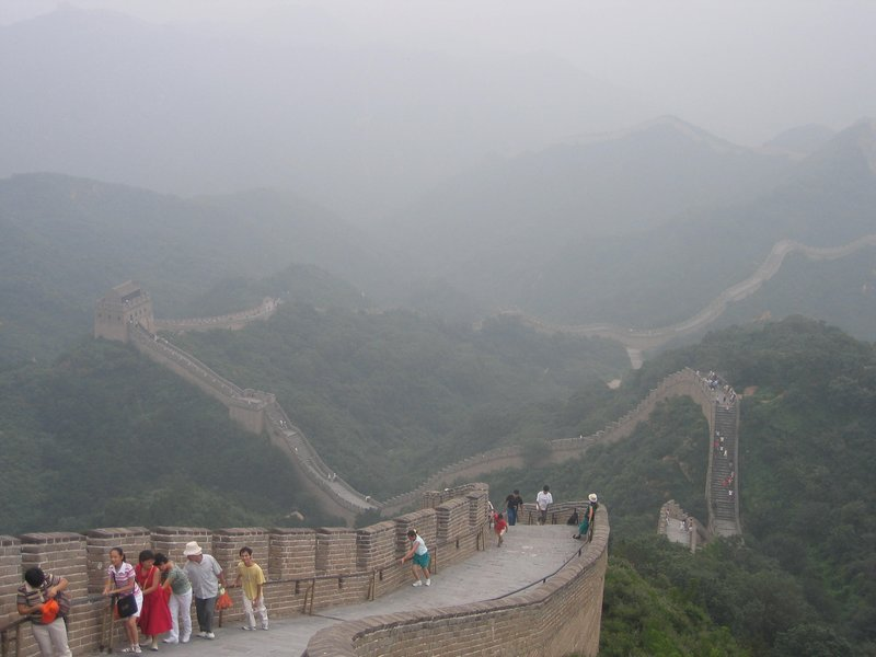 Great Wall of China in the fog