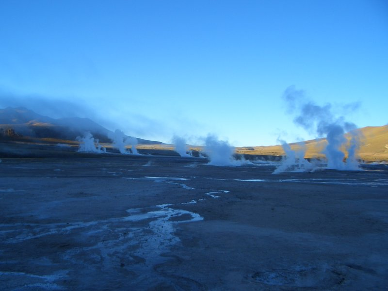 Sunrise at the Geysers del Tatio...