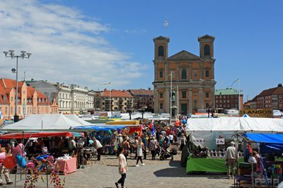Leaf market in Karlskrona, Sweden