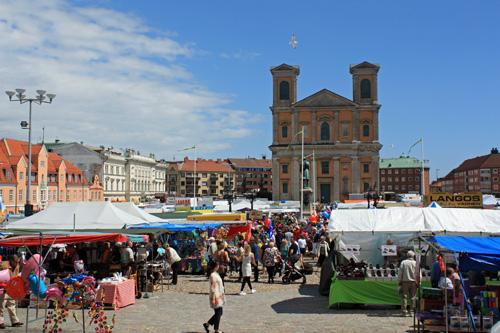 Leaf market in Karlskrona, Sweden