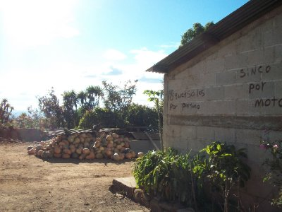 Tienda on Volcán Ipala