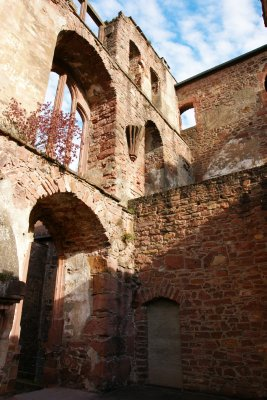 Ruins of the Heidelberg castle, Germany