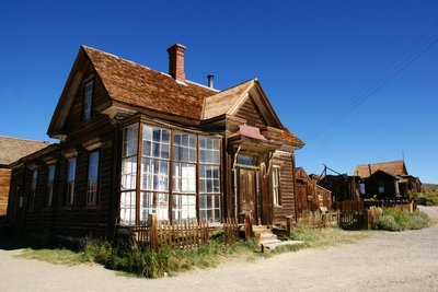 Wooden house in Bodie, California