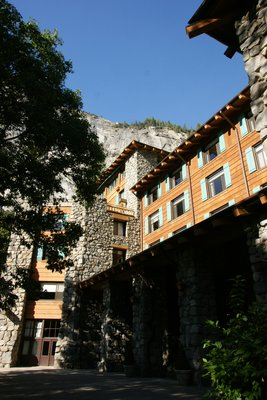 Ahwahnee hotel in the Yosemite Village, California, US