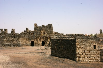Extensive courtyard inside the Al-Azraq castle