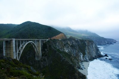 Bixby Bridge at the Pacific Coast, California, US