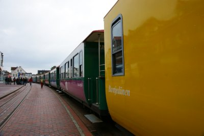 Borkum train between the harbour and Borkum town