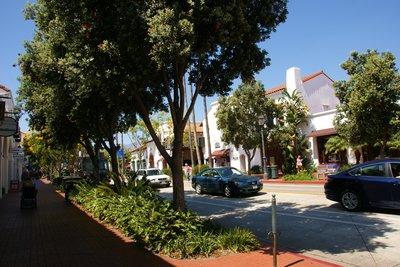 State Street in Santa Barbara, California, US