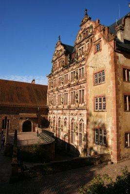 Restored part of the Heidelberg Castle, Germany