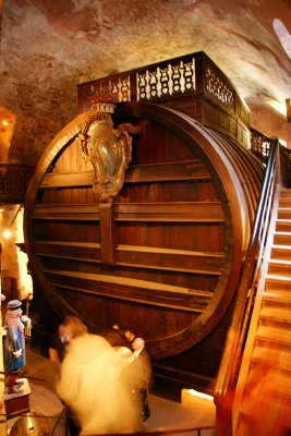 Das Grosses Fass at the Heidelberg Castle, with capacity of 220000 litres of wine