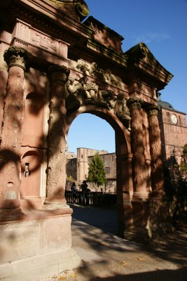 Gate at the Heidelberg castle built as a gift to 19th birthday for the wife of Ludwig I.