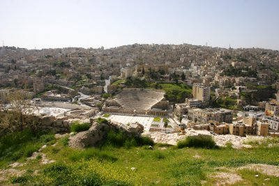 Amman downtown with the Amphitheatre in the centre of it all