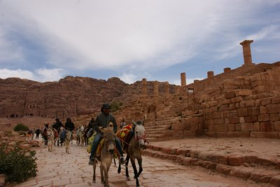 Rush hour in Petra